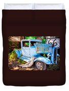 Trouble On Route 66 Duvet Cover