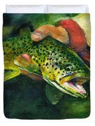 Trout In Hand Duvet Cover