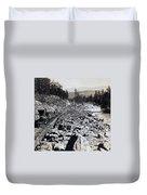 Truckee River - California - C 1865 Duvet Cover