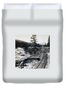 Truckee River - California Looking Toward Donner Lake - C 1865 Duvet Cover