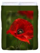 Truly Red Oriental Poppy Wildflower Duvet Cover