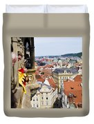 Trumpeter - Prague Old Town Square Duvet Cover