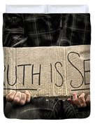 Truth Is Sexy Duvet Cover