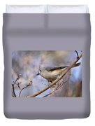 Tufted Titmouse - On The Slope Duvet Cover