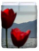 Tulip And Lake Duvet Cover