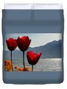 Tulip And Lake Duvet Cover