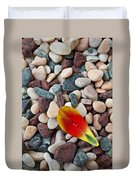 Tulip Petal And Wet Stones Duvet Cover