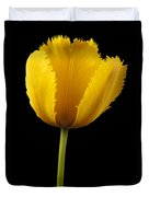 Tulipa Jaune Duvet Cover by Martin Williams