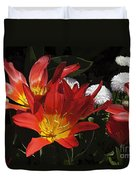 Tulips And Daisies Duvet Cover