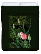 Tulips And Evergreen Duvet Cover
