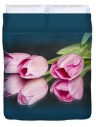 Tulips And Reflections Duvet Cover