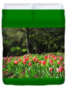 Tulips And Woods Duvet Cover