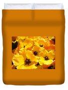 Tulips Art Prints Yellow Tulip Flowers Floral Duvet Cover