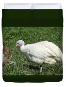 Turkey And The Chopping Block Duvet Cover