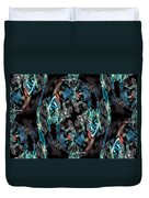 Turquoise Crystals Duvet Cover