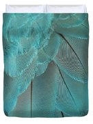 Turquoise Blue Feathers Duvet Cover