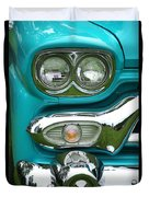Turquoise Headlight Duvet Cover