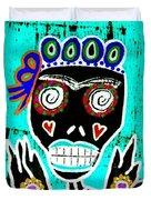 Turquoise Queen Sugar Skull Angel Duvet Cover