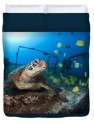 Turtle And Sealife Duvet Cover