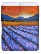 Tuscany Lavender Field Duvet Cover