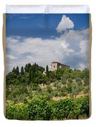 Tuscany Villa In Tuscany Italy Duvet Cover by Ulrich Schade