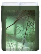 Twigs Shadows And An Empty Beer Jug Duvet Cover