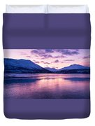 Twilight Above A Fjord In Norway With Beautifully Colors Duvet Cover