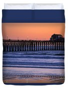 Twilight At Imperial Pier Duvet Cover