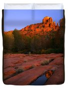 Twilight Cathedral Duvet Cover by Mike  Dawson