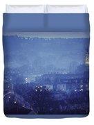 Twilight In Bath, England Duvet Cover