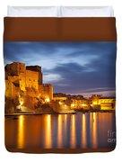 Twilight Over Collioure Duvet Cover