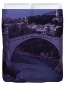 Twilight View Of A 15th-century Bridge Duvet Cover