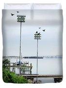 Twin Birdhouses Duvet Cover