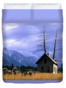Twin Tree Cabin Duvet Cover