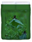 Twisted Trillium Duvet Cover