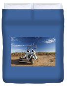 Two Astronauts Take A Ride On Scout Duvet Cover