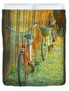 Two Bicyles Duvet Cover