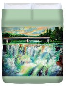 Two Bridges And A Falls 2          Duvet Cover