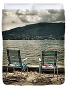 Two Chairs Duvet Cover by Joana Kruse