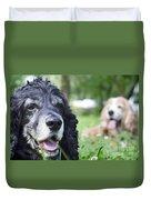 Two Cocker Spaniel Dogs Duvet Cover