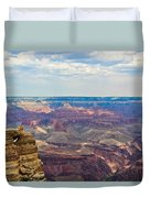 Two Crows Watch Over The Canyon Duvet Cover