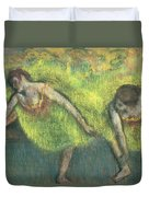 Two Dancers Relaxing Duvet Cover
