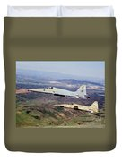 Two F-5e Tiger IIs In Flight Duvet Cover