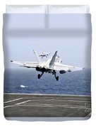 Two Fa-18c Hornet Strike Fighters Duvet Cover