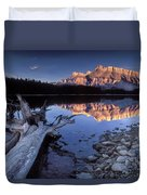 Two Jack Lake Banff Canada Duvet Cover