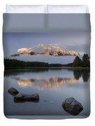 Two Jack Lake, Banff National Park Duvet Cover