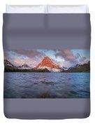 Two Medicine Lake Panorama Duvet Cover