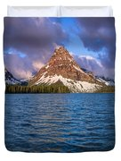 Two Medicine Morning Panorama Duvet Cover