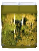 Two Palms Reflected In Water Duvet Cover