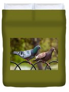 Two Pigeons Duvet Cover